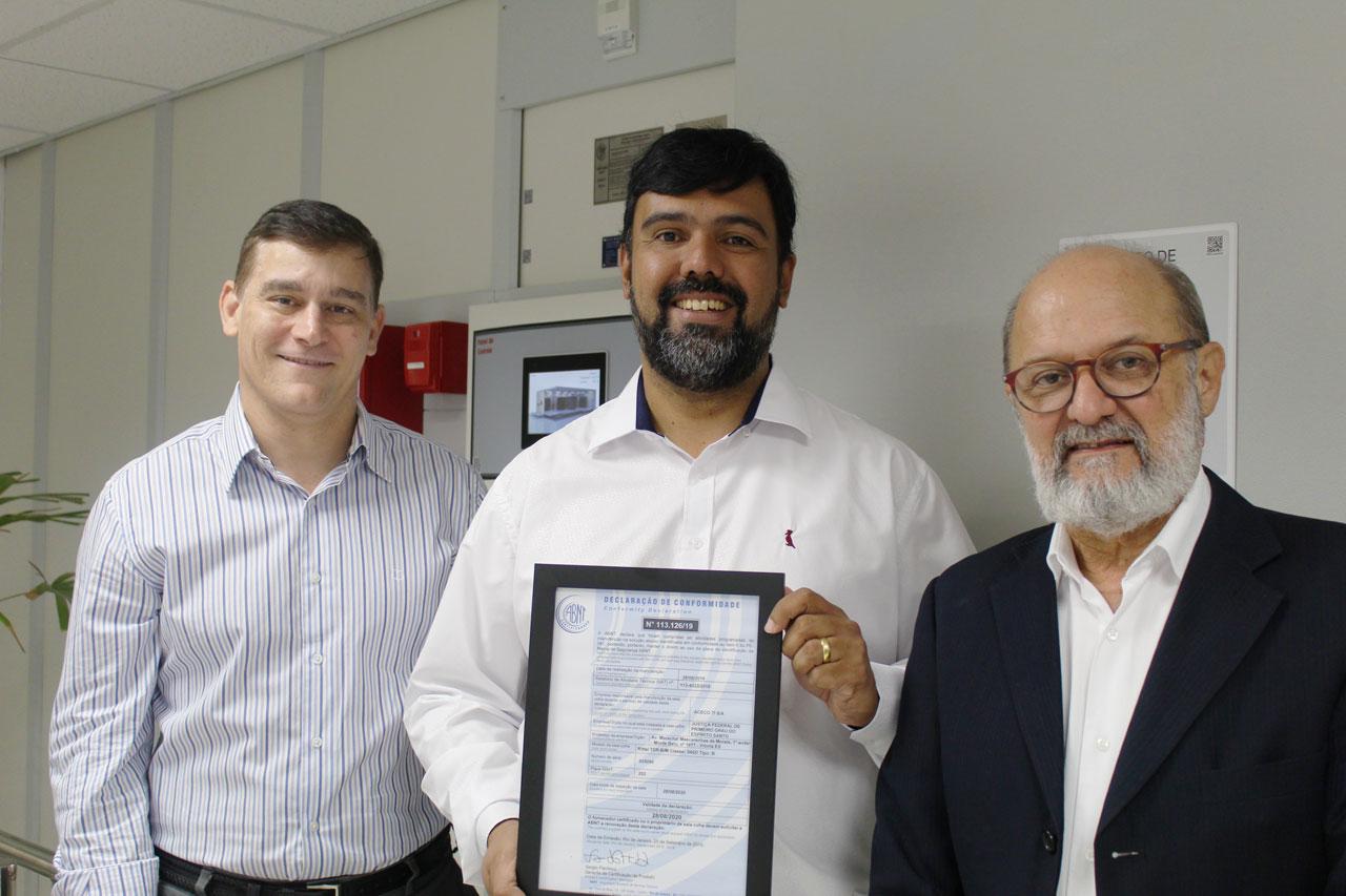 Sala-cofre da JFES recebe certificação da ABNT