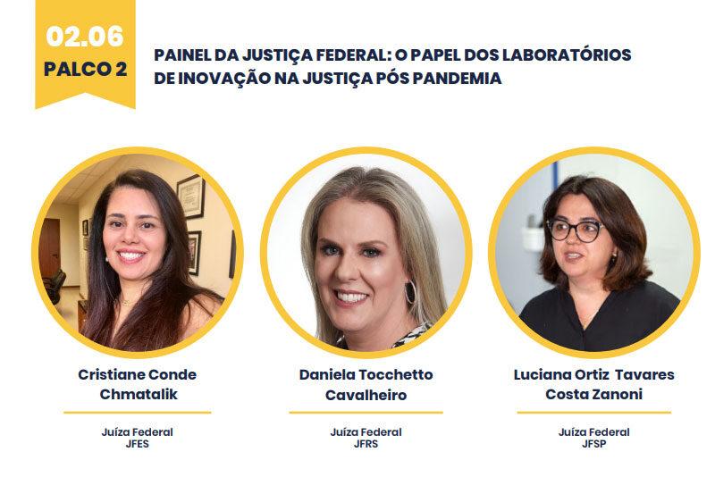 """Diretora do foro da JFES fala dia 2/6 sobre """"O papel dos laboratórios de inovação na justiça pós-pandemia"""" na Expojud"""