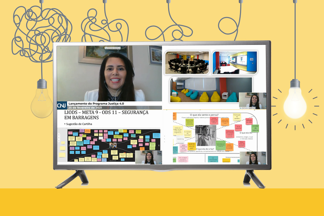 Diretora do Foro da JFES apresentou os projetos do Inovares no webinário 'Justiça 4.0' do CNJ