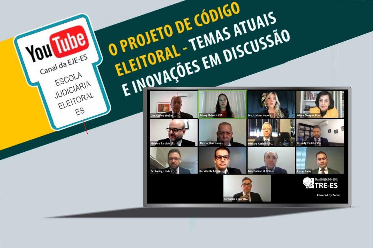 """Webinar """"O Projeto de Código Eleitoral – Temas Atuais e Inovações em Discussão"""" promove reflexão sobre os rumos da Justiça Eleitoral*"""